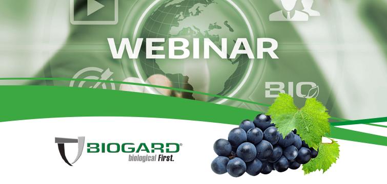 """Biogard - Webinar """"La moderna difesa della vite da vino secondo BIOGARD®"""